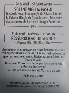 vigilia pascal 2019